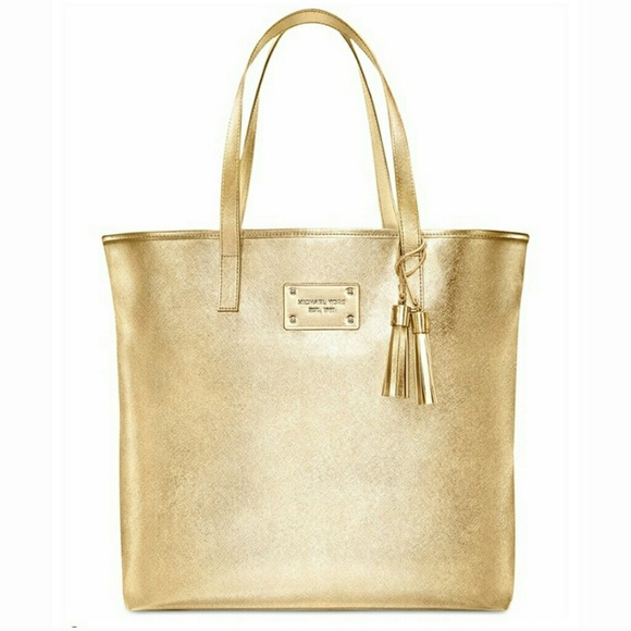 36be526c9 Michael Kors Bags | Gold Tote Bag | Poshmark